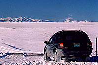 /images/133/2006-02-hartsel-snow6.jpg - #02729: my Jeep entering a snowy side-road heading north … between Wilkerson Pass & Hartsel … Feb 2006 -- Wilkerson Pass, Colorado