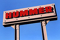 /images/133/2006-02-hummers-sign.jpg - #02750: Medved Hummer sign in Castle Rock … Feb 2006 -- Castle Rock, Colorado