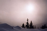 /images/133/2006-02-loveland-fog-sun1.jpg - #02752: late afternoon at Loveland Pass from Keystone side … Feb 2006 -- Loveland Pass, Colorado
