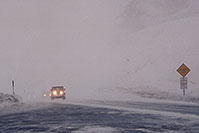 /images/133/2006-02-loveland-jeep1.jpg - #02758: Jeep Wranger in snowstorm reaching top of Loveland Pass from Keystone side … Feb 2006 -- Loveland Pass, Colorado