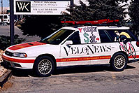 /images/133/2006-03-boulder-velonews-car.jpg - #02797: Velonews car in Boulder … March 2006 -- Boulder, Colorado