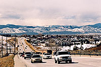 /images/133/2006-03-highlands-cars-mtns.jpg - #02802: Cars in Highlands Ranch with western mountains in the background … March 2006 -- Highlands Ranch, Colorado