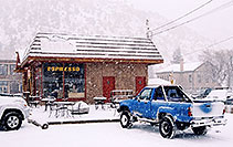 /images/133/2006-03-idaho-springs6.jpg - #02825: blue truck in front of Cafe … images of Idaho Springs … March 2006 -- Idaho Springs, Colorado