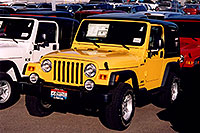 /images/133/2006-03-lithia-jeep-yellow.jpg - #02837: yellow 2006 Jeep Wrangler Sport at Lithia Jeep … March 2006 -- Lithia Jeep, Centennial, Colorado