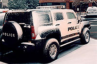 /images/133/2006-03-lonetree-hummers-s2.jpg - #02840: snowy Police Hummers in Lone Tree … March 2006 -- Lone Tree, Colorado