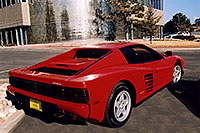 /images/133/2006-03-testarossa-view1.jpg - #02855: red 1990 Ferrari Testarossa at Paragon Motorcars … March 2006 -- Centennial, Colorado