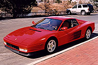 /images/133/2006-03-testarossa-view2.jpg - #02860: red 1990 Ferrari Testarossa at Paragon Motorcars … March 2006 -- Centennial, Colorado