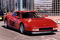 /images/133/2006-03-testarossa-view3.jpg - #02861: red 1990 Ferrari Testarossa at Paragon Motorcars … March 2006 -- Centennial, Colorado