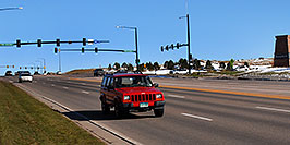 /images/133/2006-10-28-lone-lincoln01-w.jpg - #03119: red Jeep Cherokee on Lincoln Road … Oct 2006 -- Lincoln Rd, Lone Tree, Colorado