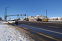 /images/133/2006-11-30-rem-road04.jpg - #03159: cars at Lincoln and Yosemite Rd in Lone Tree … Dec 2006 -- Yosemite Rd, Lone Tree, Colorado