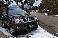 /images/133/2006-12-17-sand-xterra02.jpg - #03199: Xterra at campground at Great Sand Dunes … Dec 2006 -- Great Sand Dunes, Colorado