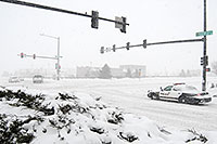 /images/133/2006-12-20-lone-police03.jpg - #03220: Lone Tree Police car during a December snowstorm … Dec 2006 -- Yosemite Rd, Lone Tree, Colorado