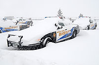 /images/133/2006-12-20-lone-sheriff01.jpg - #03222: Douglas Sheriff Police cars grounded during a snowstorm … Dec 2006 -- Lincoln Rd, Lone Tree, Colorado