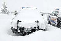 /images/133/2006-12-20-lone-sheriff03.jpg - #03224: Douglas Sheriff Police cars grounded during a snowstorm … Dec 2006 -- Lincoln Rd, Lone Tree, Colorado