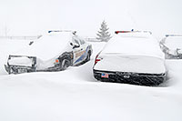 /images/133/2006-12-20-lone-sheriff04.jpg - #03225: Douglas Sheriff Police cars grounded during a snowstorm … Dec 2006 -- Lincoln Rd, Lone Tree, Colorado