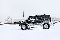 /images/133/2006-12-21-lone-linc-h2.jpg - #03245: black Hummer H2 during December snowstorm … Dec 2006 -- Lincoln Rd, Lone Tree, Colorado