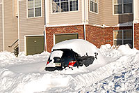 /images/133/2006-12-22-rem-sunny03.jpg - #03262: Scion xA after a snowstorm … Dec 2006 -- Remington, Lone Tree, Colorado