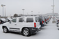 /images/133/2007-01-12-go-xterras01.jpg - #03334: white Nissan Xterra and others at GO Nissan on Arapahoe Rd … Jan 2007 -- Go Nissan, Englewood, Colorado