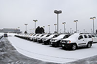 /images/133/2007-01-12-go-xterras02.jpg - #03335: white Nissan Xterra and others at GO Nissan on Arapahoe Rd … Jan 2007 -- Go Nissan, Englewood, Colorado