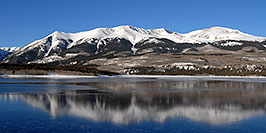 /images/133/2007-01-28-elbert-view2-pano.jpg - #03426: reflection of Mt Elbert in Mt Elbert Forebay … Jan 2007 -- Mt Elbert Forebay, Twin Lakes, Colorado