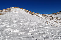 /images/133/2007-01-28-love-view08.jpg - #03450: skier walking up east face of Loveland Pass … Jan 2007 -- Loveland Pass, Colorado