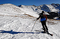 /images/133/2007-01-28-love-view10.jpg - #03456: skier walking up east face of Loveland Pass … Jan 2007 -- Loveland Pass, Colorado