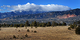 /images/133/2007-02-26-cos-view02.jpg - #03509: view of Colorado Springs with Pikes Peak in the clouds … Feb 2007 -- Colorado Springs, Colorado