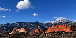 /images/133/2007-02-26-gods-above-pano2.jpg - #03532: view of Garden of the Gods with Pikes Peak in the clouds … Feb 2007 -- Garden of the Gods, Colorado Springs, Colorado