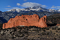 /images/133/2007-02-26-gods-above-right.jpg - #03513: view of Garden of the Gods with Pikes Peak in the clouds … Feb 2007 -- Garden of the Gods, Colorado Springs, Colorado