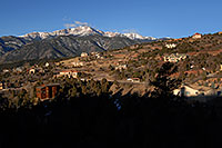 /images/133/2007-02-26-ramp-houses02.jpg - #03539: view of Pikes Peak from Rampart Range Road  … Feb 2007 -- Rampart Range Rd, Colorado Springs, Colorado