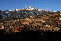 /images/133/2007-02-26-ramp-houses03.jpg - #03540: view of Pikes Peak from Rampart Range Road  … Feb 2007 -- Rampart Range Rd, Colorado Springs, Colorado