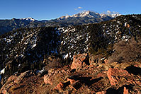 /images/133/2007-02-26-ramp-view01.jpg - #03548: view of Pikes Peak … along Rampart Range Road  … Feb 2007 -- Rampart Range Rd, Colorado Springs, Colorado