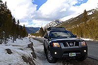 /images/133/2007-04-01-lead-i70-xterra.jpg - #03635: Xterra enroute to Leadville from Denver side … April 2007 -- Leadville, Colorado