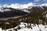 /images/133/2007-04-28-love-i70-view01.jpg - #03759: view of I-70, east of Eisenhower Tunnel - view down from Loveland Pass … April 2007 -- Loveland Pass, Colorado