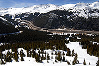 /images/133/2007-04-28-love-i70-view02.jpg - #03760: view of I-70 west and Eisenhower Tunnel - view down from Loveland Pass … April 2007 -- Loveland Pass, Colorado
