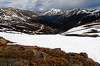 /images/133/2007-06-03-indep-road04.jpg - #03844: view from above Independence Pass with La Plata Peak at 14,336 ft in the center … June 2007 -- La Plata Peak, Independence Pass, Colorado