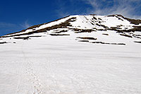 /images/133/2007-06-03-indep-snowb02.jpg - #03847: snowboarders walking up from Independence Pass … June 2007 -- Independence Pass, Colorado