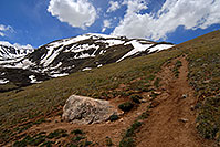 /images/133/2007-06-09-elbert-trail-up1.jpg - #03866: images along South Mt Elbert Trail … June 2007 -- Mt Elbert, Colorado