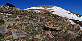/images/133/2007-06-17-evans-road-xte-pano.jpg - #03954: view from 13,500 feet of a road up Mt Evans … June 2007 -- Mount Evans Road, Mt Evans, Colorado