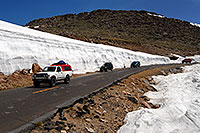 /images/133/2007-06-17-evans-snow-bank.jpg - #03957: 20ft snowbanks at 11,500ft on a road up Mt Evans … June 2007 -- Mount Evans Road, Mt Evans, Colorado