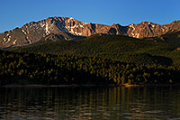 /images/133/2007-06-22-pikes-lake-morn.jpg - #03987: Pikes Peak in the morning … June 2007 -- Crystal Reservoir, Pikes Peak, Colorado