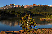 /images/133/2007-06-22-pikes-lake-morn2.jpg - #03988: Morning reflection of Pikes Peak in Crystal Reservoir … June 2007 -- Crystal Reservoir, Pikes Peak, Colorado