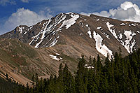 /images/133/2007-06-22-plata-road01.jpg - #03996: La Plata Peak from Independence Pass Road … June 2007 -- La Plata Peak, Colorado