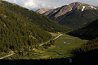 /images/133/2007-06-24-indep-twin-road2.jpg - #04040: Independence Pass road from Twin Lakes side …  June 2007 -- Independence Pass, Colorado