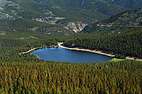 /images/133/2007-06-30-evans-echo-above-first.jpg - #04086: View of Echo Lake at 10,600 ft from Mt Evans Road at 12,000 ft … June 2007 -- Echo Lake, Mt Evans, Colorado