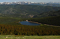 /images/133/2007-06-30-evans-echo-above-second.jpg - #04087: View of Echo Lake at 10,600 ft from Mt Evans Road at 12,000 ft … June 2007 -- Echo Lake, Mt Evans, Colorado