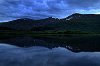 /images/133/2007-07-07-biers-ref-blue.jpg - #04152: Photographer looking at Mt Bierstadt … evening reflections … July 2007 -- Guanella Pass, Mt Bierstadt, Colorado