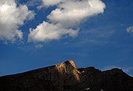 /images/133/2007-07-08-biers-saw-dark.jpg - #04183: The Sawtooth peak at 13,780 ft … July 2007 -- The Sawtooth, Mt Bierstadt, Colorado