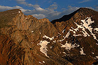 /images/133/2007-07-08-biers-saw-eve1.jpg - #04184: The Sawtooth (13,780 ft, left) and Mt Bierstadt (14,060 ft, right) … July 2007 -- The Sawtooth, Mt Bierstadt, Colorado