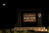 /images/133/2007-07-20-teton-sign.jpg - #04229: Grand Teton National Park entrance from Togwotee Pass … July 2007 -- Tetons, Wyoming